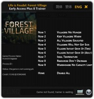 Life is Feudal: Forest Village: Трейнер/Trainer (+8) [Update: 14.09.16] {FLiNG}