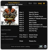 Street Fighter 5: Трейнер/Trainer (+12) [1.0 - 2.0] {FLiNG}